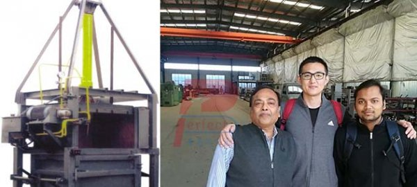 India client finished their visiting to us for small waste paper pressing machine !