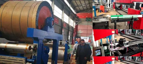Egypt client finished the inspection of the crepe paper machine and neck paper machine