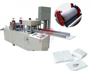 Napkin tissue paper folding machine