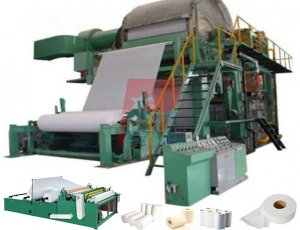 Waste Paper Pulp Virgin Wood Pulp Tissue Paper Making Machine