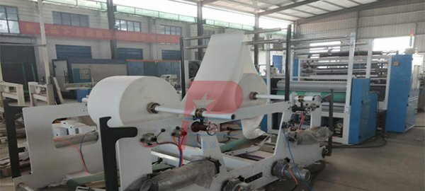 6 lanes tissue paper V folding machine shipped to Europe