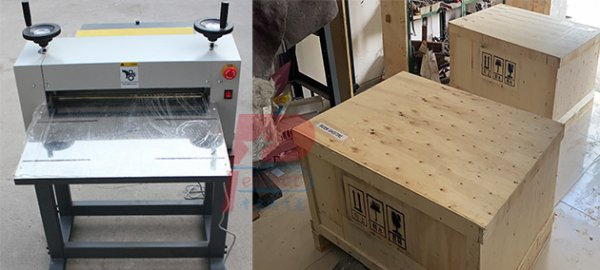 Paper sheet cardboard small die cutting machine shipped to Africa